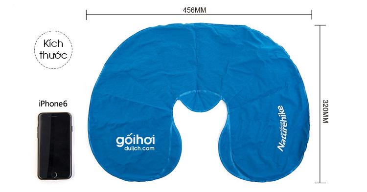Kích thước của gối hơi du lịch GH03 (chưa thổi hơi)